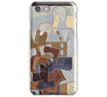 Juan Gris - Pierrot With Guitar 1922 iPhone Case/Skin
