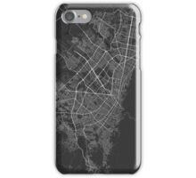 Bogota, Colombia Map. (White on black) iPhone Case/Skin