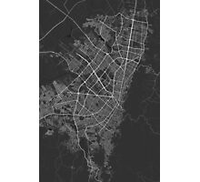 Bogota, Colombia Map. (White on black) Photographic Print
