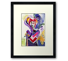 Man with sword Framed Print