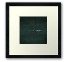 NateWantsToBattle - Genesis Album PRINT Framed Print