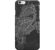 Cali, Colombia Map. (White on black) iPhone Case/Skin