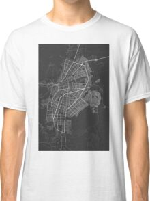 Cali, Colombia Map. (White on black) Classic T-Shirt