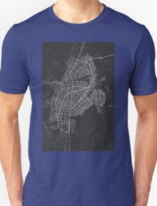 Cali, Colombia Map. (White on black) T-Shirt