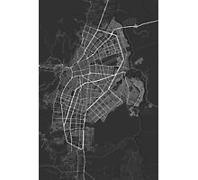 Cali, Colombia Map. (White on black) Photographic Print