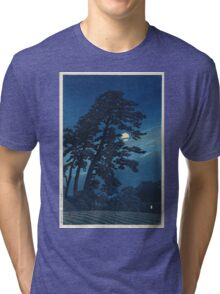 Kawase Hasui - Full Moon In Magome Tri-blend T-Shirt