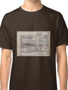 0277 Railroad Maps Hannibal St Joseph Railway Classic T-Shirt
