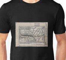 0277 Railroad Maps Hannibal St Joseph Railway Unisex T-Shirt