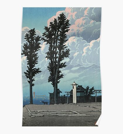 Kawase Hasui - Kanda Myojin Shrine After The Earthquake Fire Poster
