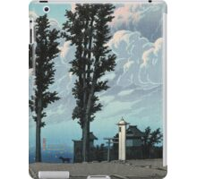 Kawase Hasui - Kanda Myojin Shrine After The Earthquake Fire iPad Case/Skin