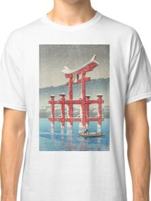 Kawase Hasui - Miyajima In Snow (Miyajima, Setchu) Classic T-Shirt