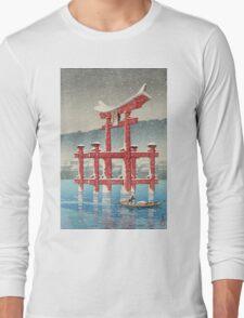 Kawase Hasui - Miyajima In Snow (Miyajima, Setchu) Long Sleeve T-Shirt