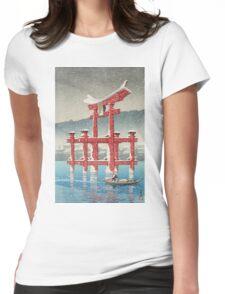 Kawase Hasui - Miyajima In Snow (Miyajima, Setchu) Womens Fitted T-Shirt