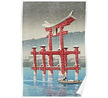 Kawase Hasui - Miyajima In Snow (Miyajima, Setchu) Poster