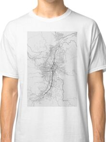 Medellin, Colombia Map. (Black on white) Classic T-Shirt