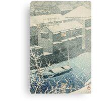 Kawase Hasui - Ochanomizu In Snow (Ochanomizu) Metal Print