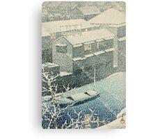 Kawase Hasui - Ochanomizu In Snow (Ochanomizu) Canvas Print