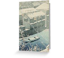 Kawase Hasui - Ochanomizu In Snow (Ochanomizu) Greeting Card