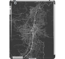 Medellin, Colombia Map. (White on black) iPad Case/Skin