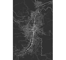 Medellin, Colombia Map. (White on black) Photographic Print