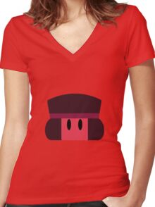 Cute Ruby Women's Fitted V-Neck T-Shirt