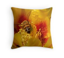 I will melt into it (Opuntia humifusa) Throw Pillow