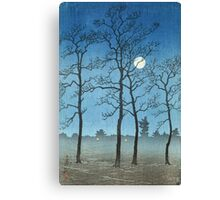 Kawase Hasui - Winter Moonlight Canvas Print