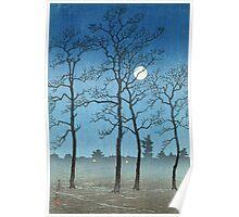 Kawase Hasui - Winter Moonlight Poster