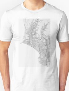 Lima, Peru Map. (Black on white) Unisex T-Shirt