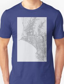 Lima, Peru Map. (Black on white) T-Shirt