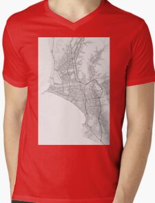 Lima, Peru Map. (Black on white) Mens V-Neck T-Shirt