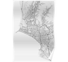 Lima, Peru Map. (Black on white) Poster