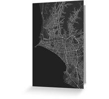 Lima, Peru Map. (White on black) Greeting Card