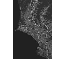 Lima, Peru Map. (White on black) Photographic Print