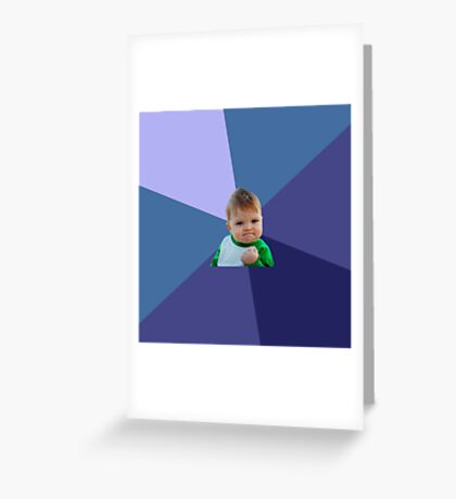 success kid / i hate sandcastles  Greeting Card