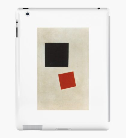 Kazemir Malevich - Black Square And Red Square 1915 iPad Case/Skin