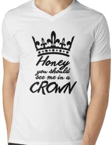 BBC Sherlock - Honey You Should See Me In A Crown Mens V-Neck T-Shirt