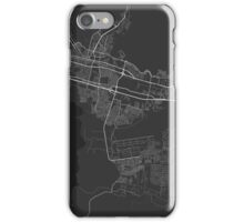 Maracay, Venezuela Map. (White on black) iPhone Case/Skin
