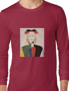 Kazemir Malevich - Girl With A Comb In Her Hair 1933 Long Sleeve T-Shirt