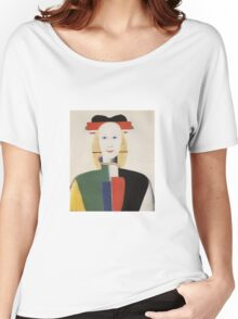 Kazemir Malevich - Girl With A Comb In Her Hair 1933 Women's Relaxed Fit T-Shirt