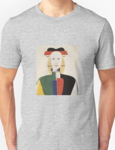 Kazemir Malevich - Girl With A Comb In Her Hair 1933 Unisex T-Shirt
