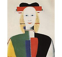 Kazemir Malevich - Girl With A Comb In Her Hair 1933 Photographic Print