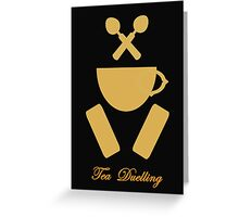 Tea Duelling Greeting Card