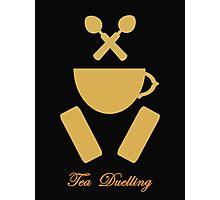 Tea Duelling Photographic Print