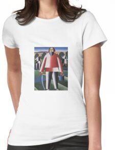 Kazemir Malevich - Haymaking 1929 Womens Fitted T-Shirt