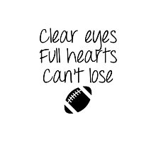 Friday Night Lights - Clear Eyes Photographic Print