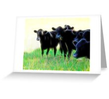 Electric Cows Greeting Card
