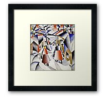 Kazimir Malevich - Morning In The Village After Snowstorm  Framed Print