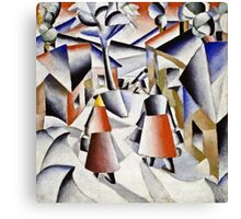 Kazimir Malevich - Morning In The Village After Snowstorm  Canvas Print