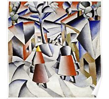 Kazimir Malevich - Morning In The Village After Snowstorm  Poster